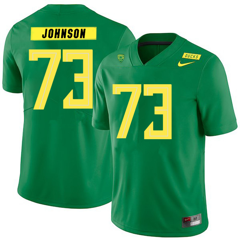 2019 Men #73 Justin Johnson Oregon Ducks College Football Jerseys Sale-Green