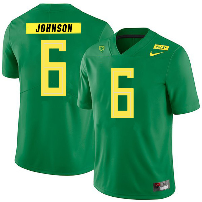 2019 Men #6 Juwan Johnson Oregon Ducks College Football Jerseys Sale-Green