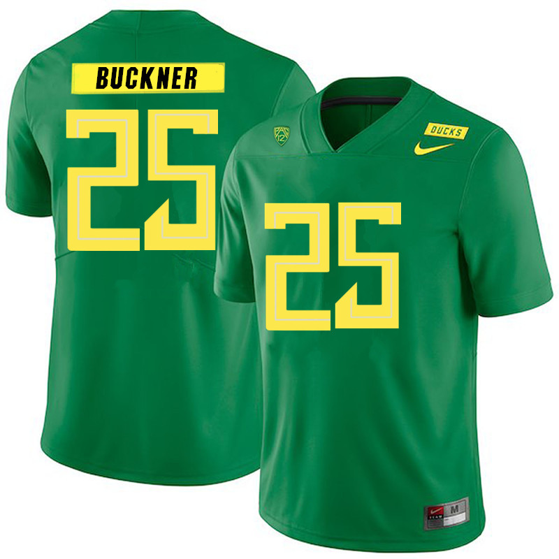 2019 Men #25 Kyle Buckner Oregon Ducks College Football Jerseys Sale-Green