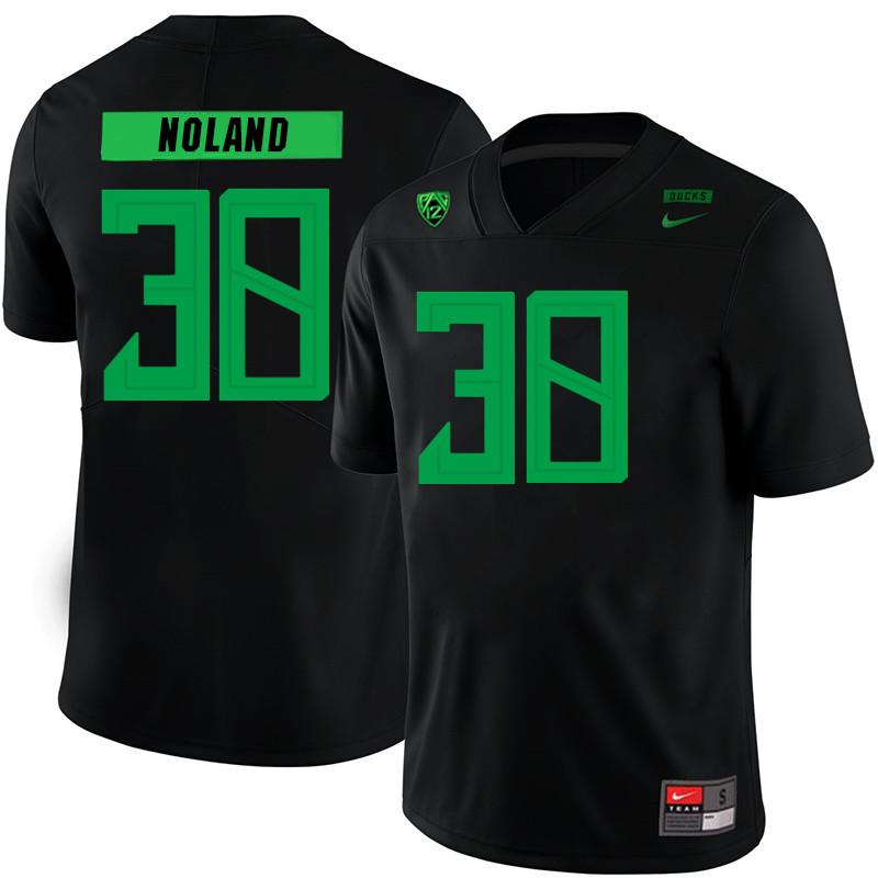 2019 Men #38 Lucas Noland Oregon Ducks College Football Jerseys Sale-Black