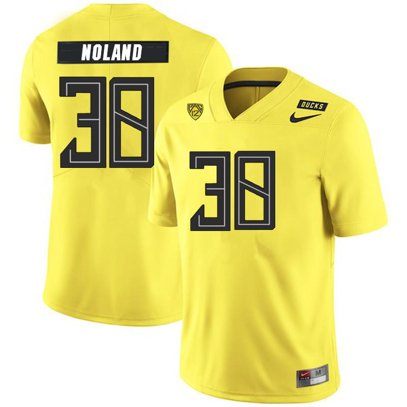 2019 Men #38 Lucas Noland Oregon Ducks College Football Jerseys Sale-Yellow