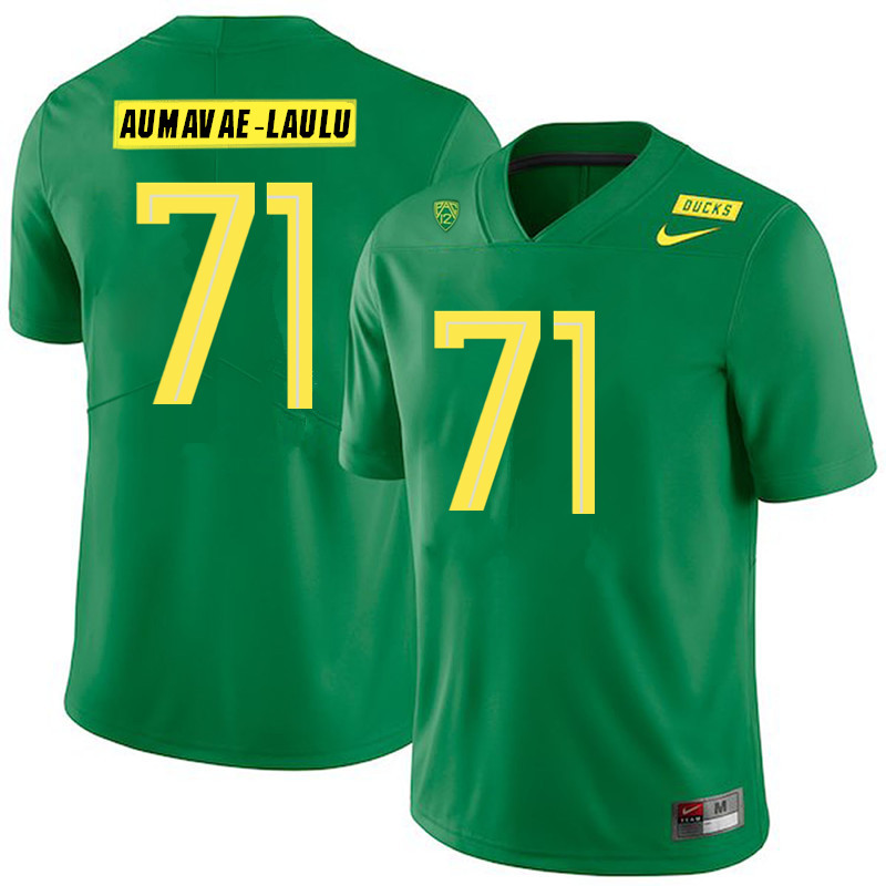 2019 Men #71 Malaesala Aumavae-Laulu Oregon Ducks College Football Jerseys Sale-Green