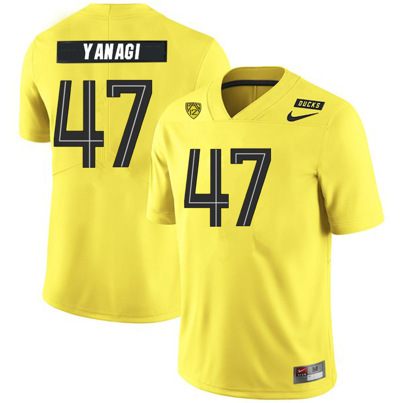 2019 Men #47 Peyton Yanagi Oregon Ducks College Football Jerseys Sale-Yellow