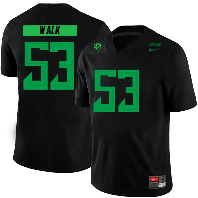 2019 Men #53 Ryan Walk Oregon Ducks College Football Jerseys Sale-Black