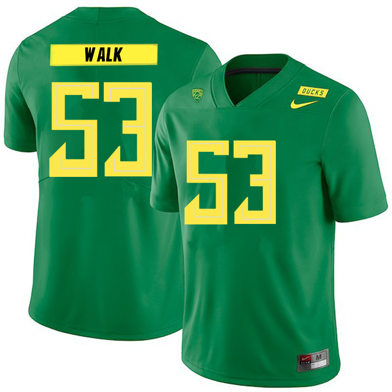 2019 Men #53 Ryan Walk Oregon Ducks College Football Jerseys Sale-Green