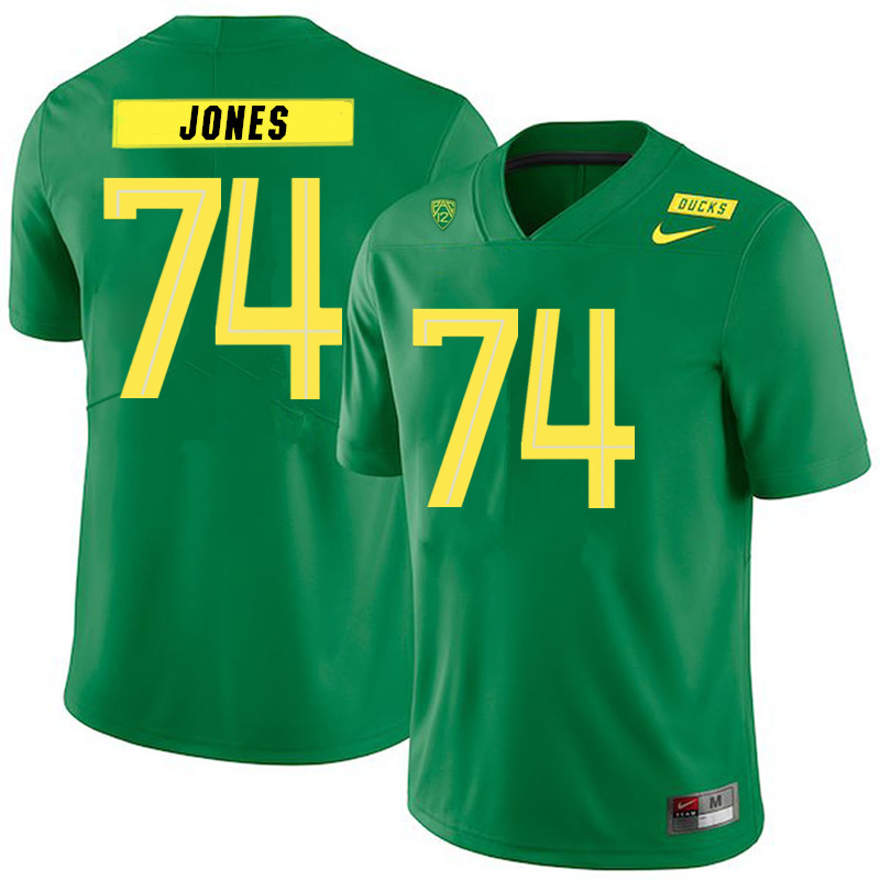 2019 Men #74 Steven Jones Oregon Ducks College Football Jerseys Sale-Green