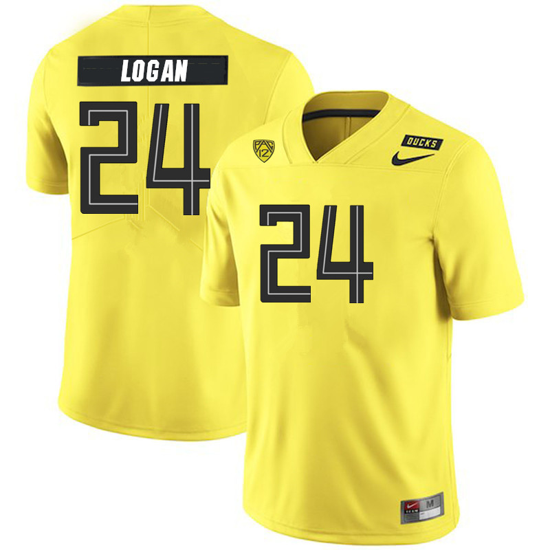 2019 Men #24 Vincenzo Logan Oregon Ducks College Football Jerseys Sale-Yellow