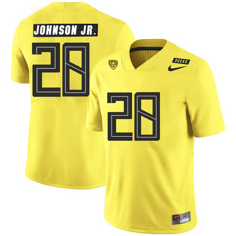 Men #28 Andrew Johnson Jr. Oregon Ducks College Football Jerseys Sale-Yellow