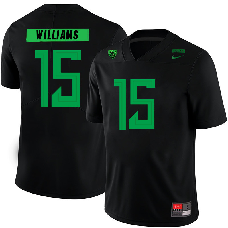 Men #15 Bennett Williams Oregon Ducks College Football Jerseys Sale-Black
