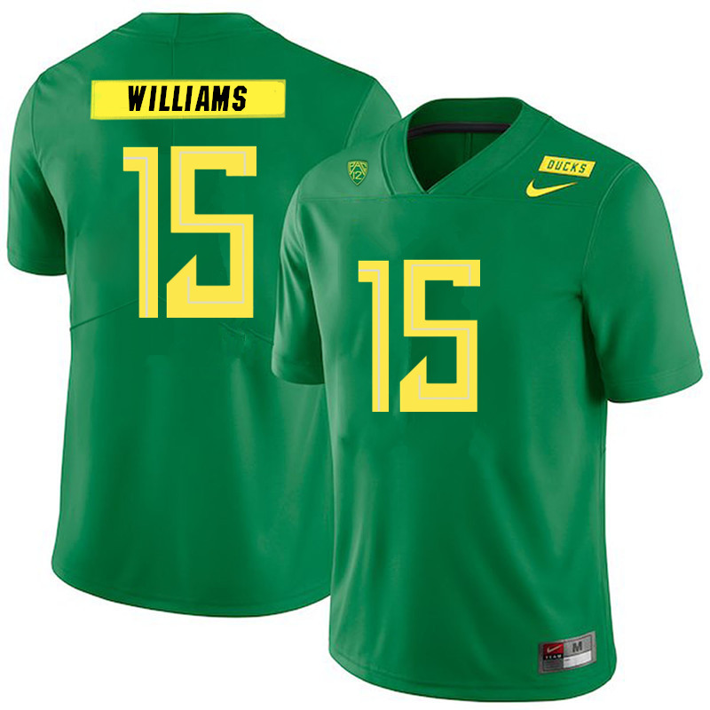 Men #15 Bennett Williams Oregon Ducks College Football Jerseys Sale-Green