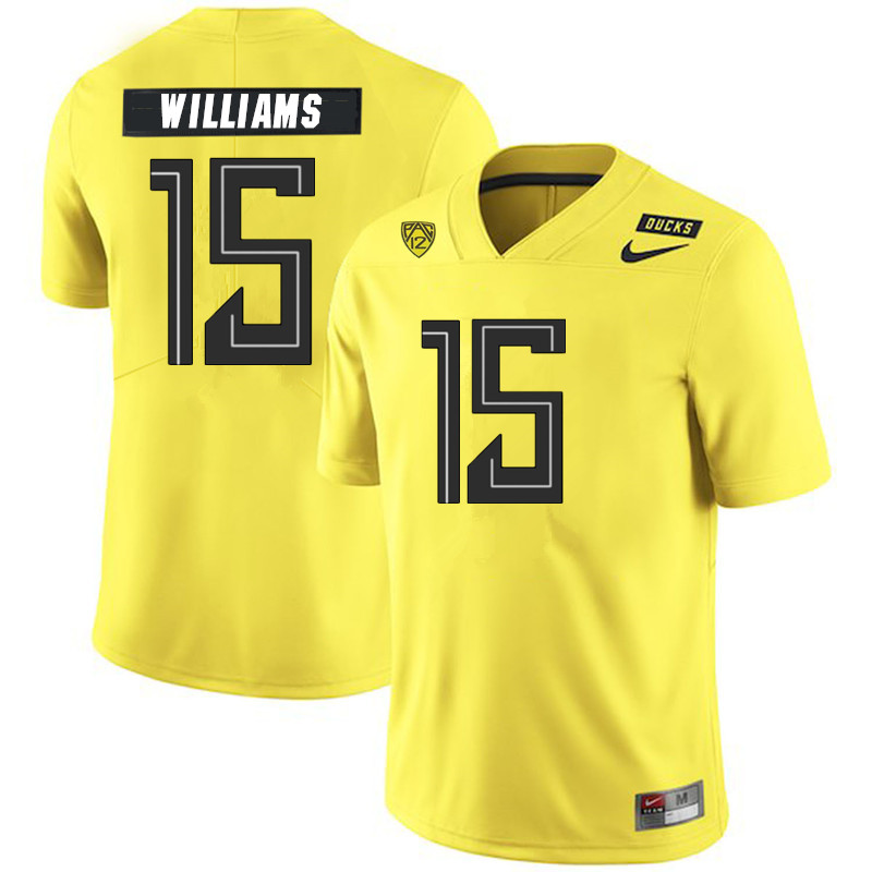 Men #15 Bennett Williams Oregon Ducks College Football Jerseys Sale-Yellow