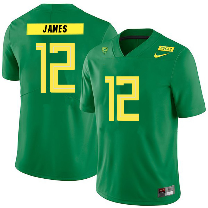 Men #12 DJ James Oregon Ducks College Football Jerseys Sale-Green