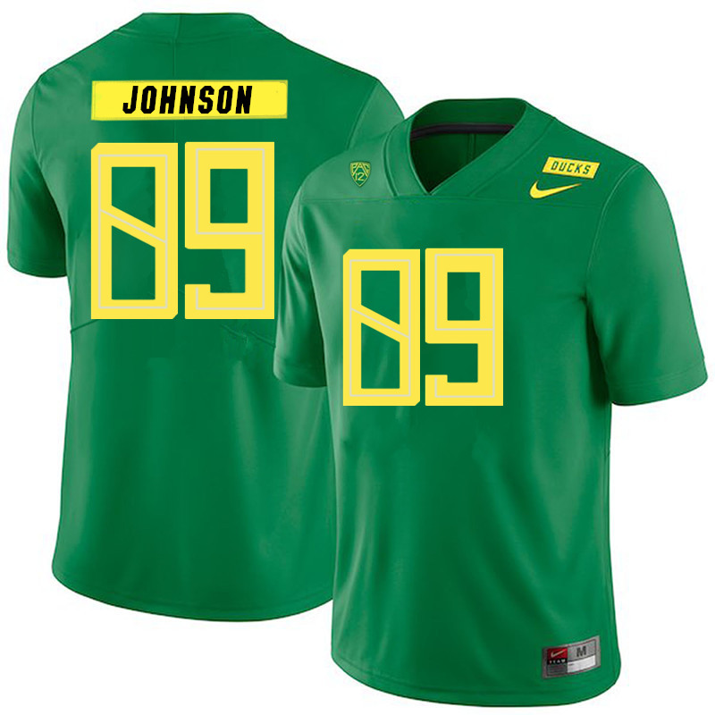 Men #89 DJ Johnson Oregon Ducks College Football Jerseys Sale-Green