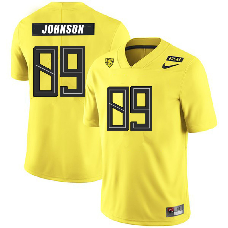 Men #89 DJ Johnson Oregon Ducks College Football Jerseys Sale-Yellow