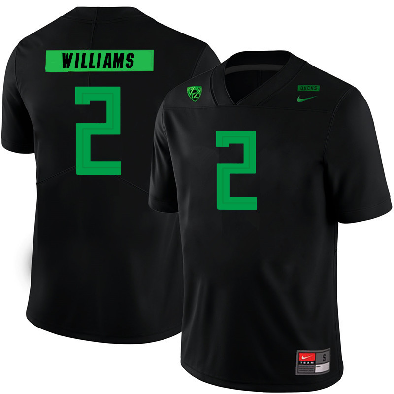 Men #2 Devon Williams Oregon Ducks College Football Jerseys Sale-Black