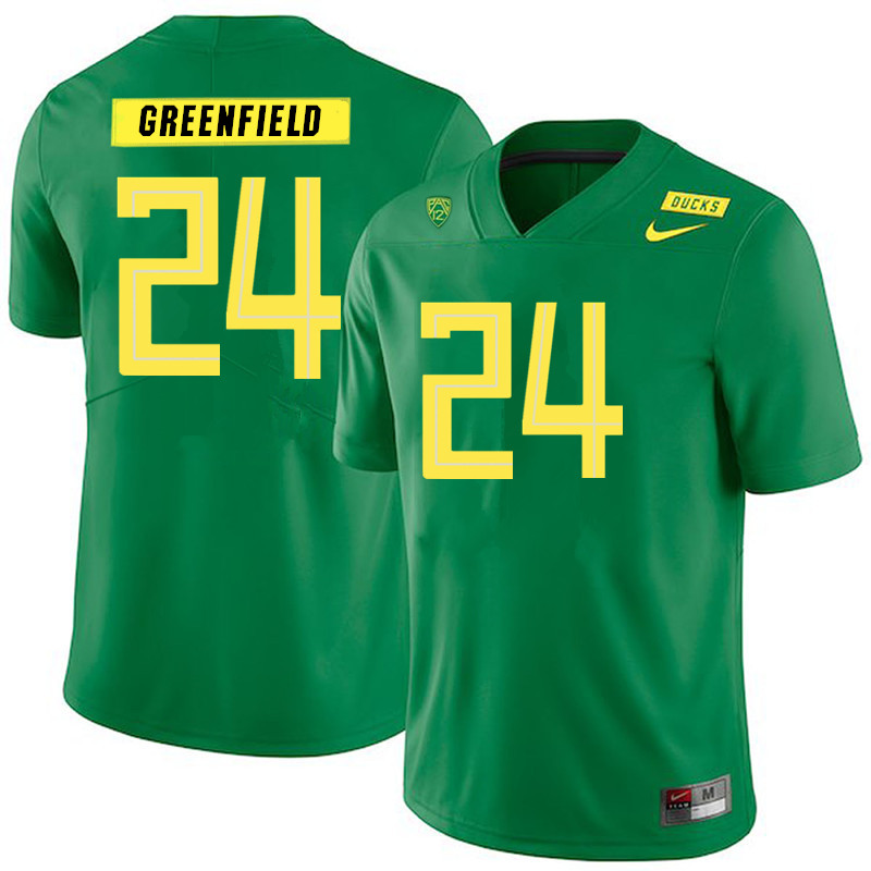 Men #24 JJ Greenfield Oregon Ducks College Football Jerseys Sale-Green