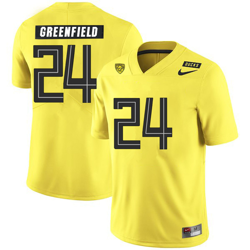 Men #24 JJ Greenfield Oregon Ducks College Football Jerseys Sale-Yellow