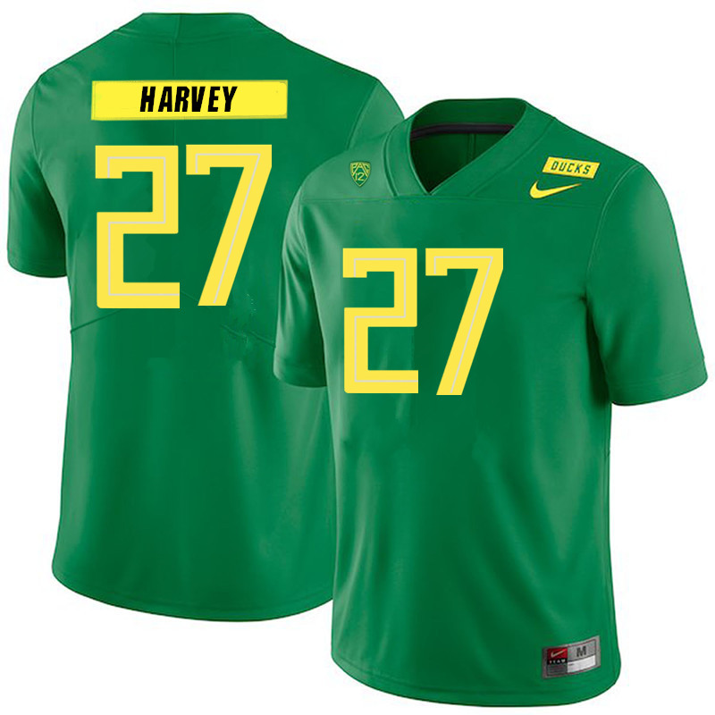 Men #27 John Harvey Oregon Ducks College Football Jerseys Sale-Green