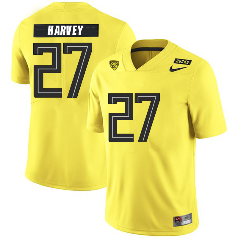 Men #27 John Harvey Oregon Ducks College Football Jerseys Sale-Yellow