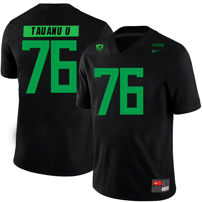 Men #76 Jonah Tauanu'u Oregon Ducks College Football Jerseys Sale-Black