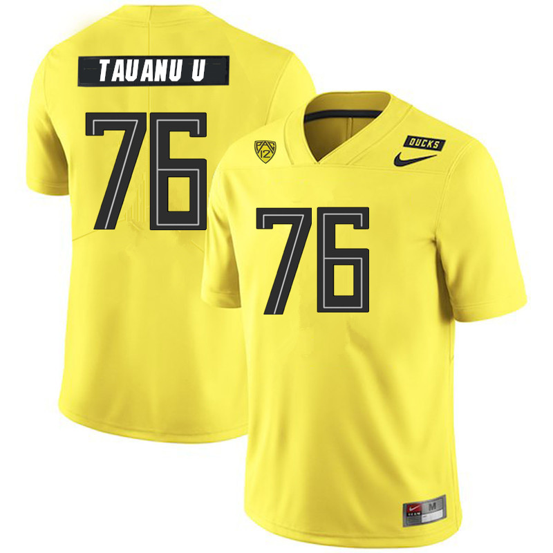 Men #76 Jonah Tauanu'u Oregon Ducks College Football Jerseys Sale-Yellow