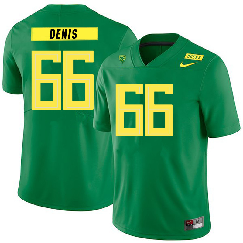Men #66 Jonathan Denis Oregon Ducks College Football Jerseys Sale-Green