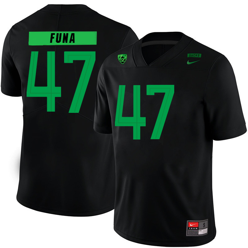 Men #47 Mase Funa Oregon Ducks College Football Jerseys Sale-Black