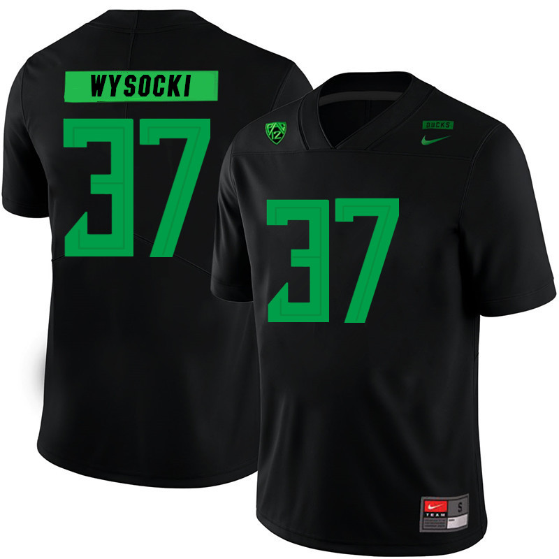Men #37 Max Wysocki Oregon Ducks College Football Jerseys Sale-Black