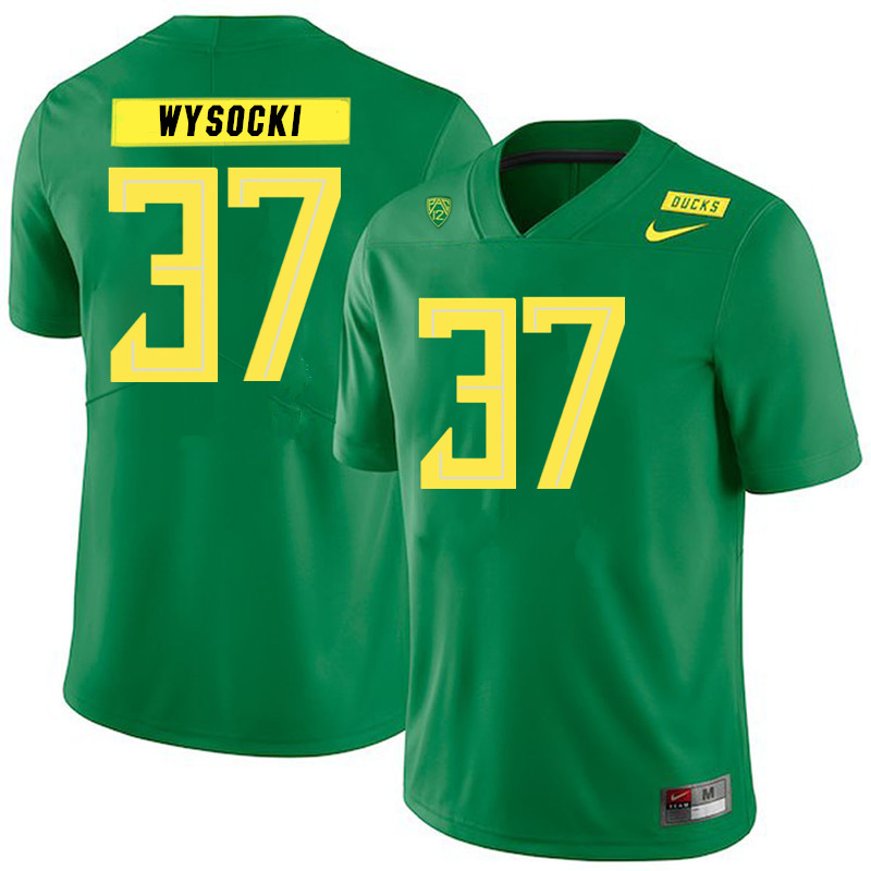 Men #37 Max Wysocki Oregon Ducks College Football Jerseys Sale-Green