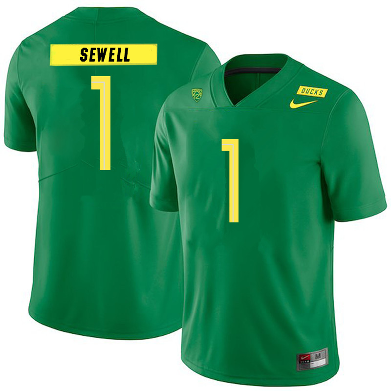 Men #1 Noah Sewell Oregon Ducks College Football Jerseys Sale-Green