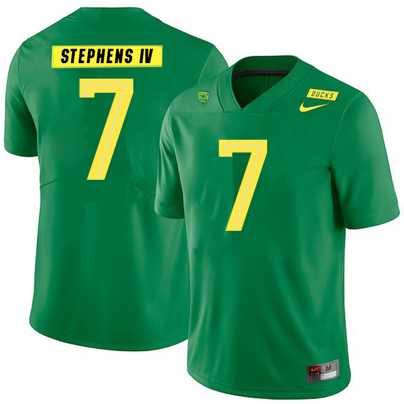 Men #7 Steve Stephens IV Oregon Ducks College Football Jerseys Sale-Green
