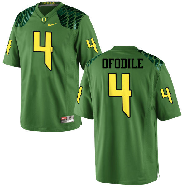 Men #4 Alex Ofodile Oregon Ducks College Football Jerseys-Apple Green