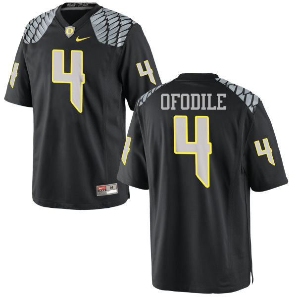 Men #4 Alex Ofodile Oregon Ducks College Football Jerseys-Black