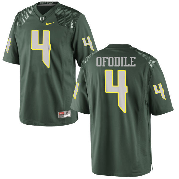 Men #4 Alex Ofodile Oregon Ducks College Football Jerseys-Green