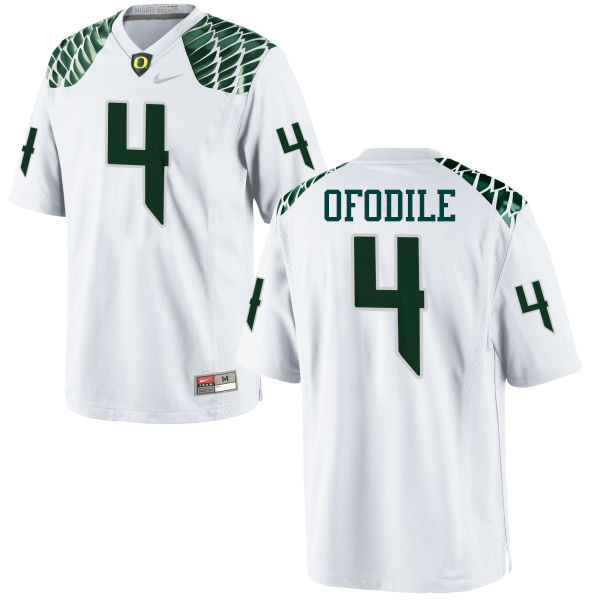 Men #4 Alex Ofodile Oregon Ducks College Football Jerseys-White