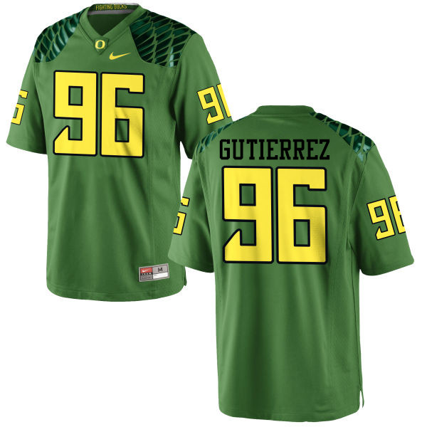 Men #96 Anthony Gutierrez Oregon Ducks College Football Jerseys-Apple Green