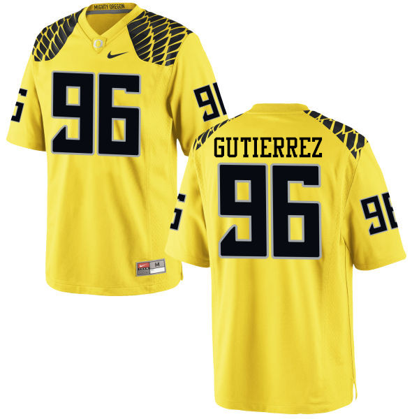 Men #96 Anthony Gutierrez Oregon Ducks College Football Jerseys-Yellow