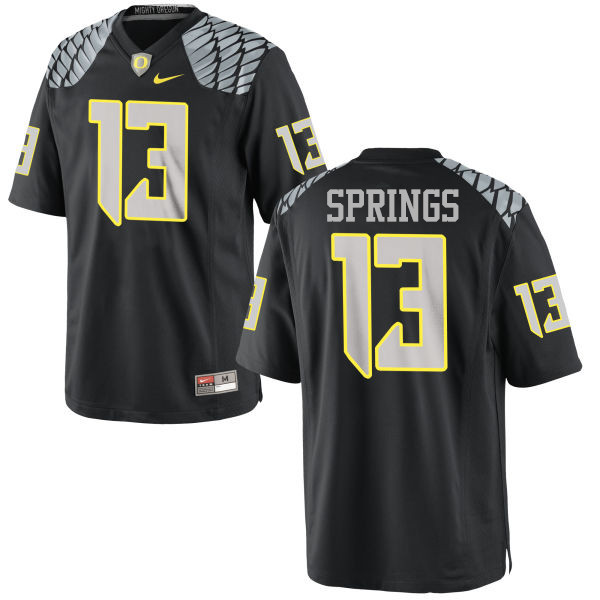 Men #13 Arrion Springs Oregon Ducks College Football Jerseys-Black