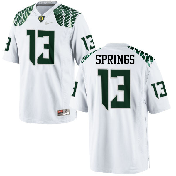 Men #13 Arrion Springs Oregon Ducks College Football Jerseys-White