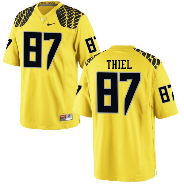 Men #87 Ben Thiel Oregon Ducks College Football Jerseys-Yellow