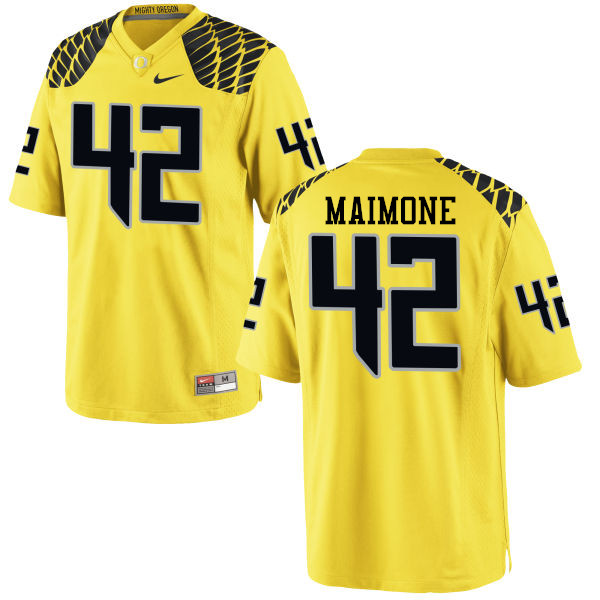 Men #42 Blake Maimone Oregon Ducks College Football Jerseys-Yellow
