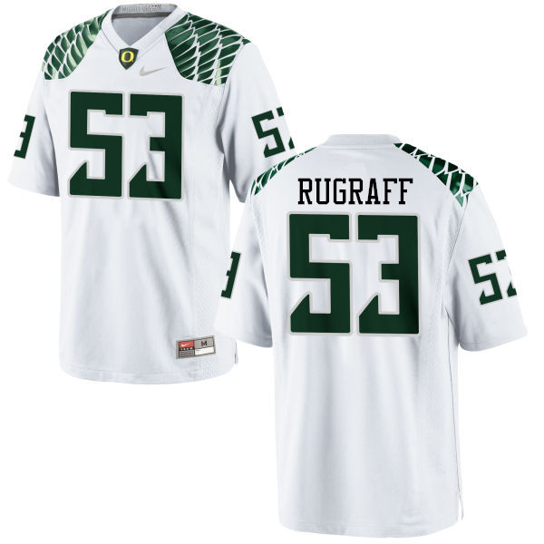 Men #53 Blake Rugraff Oregon Ducks College Football Jerseys-White