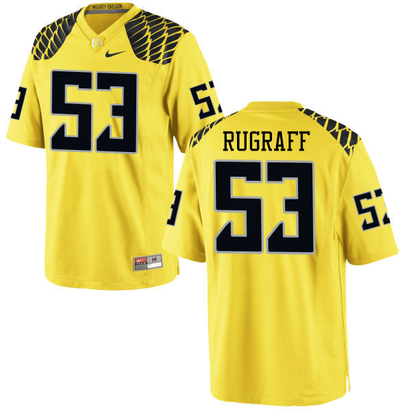 Men #53 Blake Rugraff Oregon Ducks College Football Jerseys-Yellow