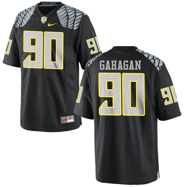 Men #90 Brandon Gahagan Oregon Ducks College Football Jerseys-Black