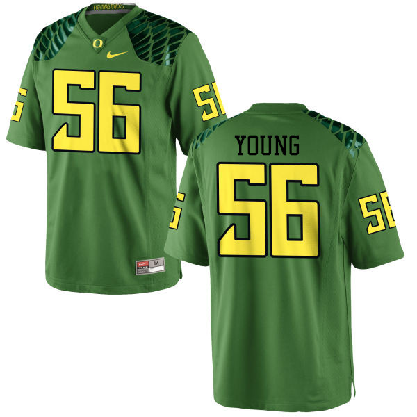 Men #56 Bryson Young Oregon Ducks College Football Jerseys-Apple Green