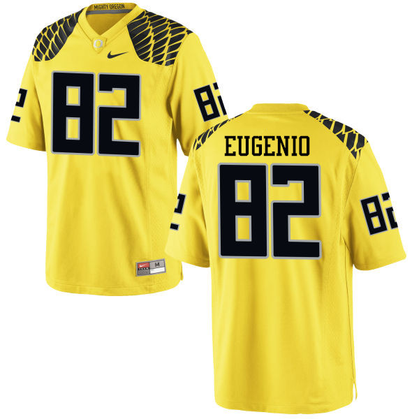Men #82 Casey Eugenio Oregon Ducks College Football Jerseys-Yellow