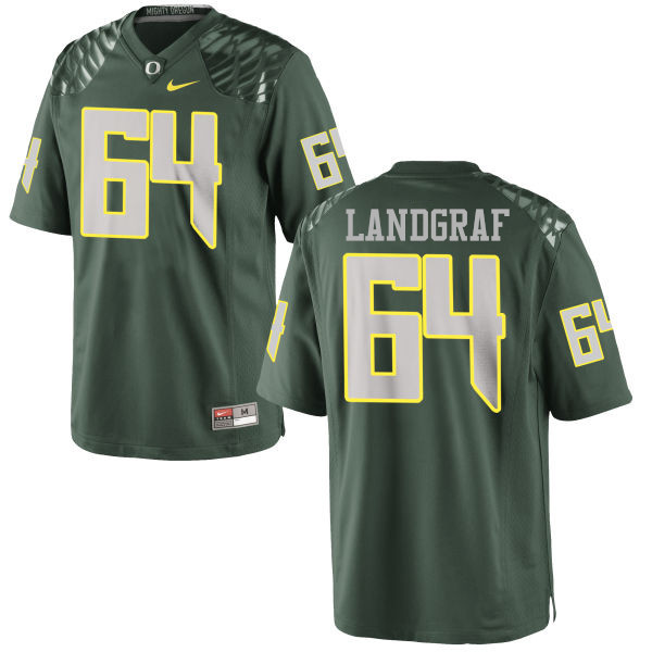 Men #64 Charlie Landgraf Oregon Ducks College Football Jerseys-Green