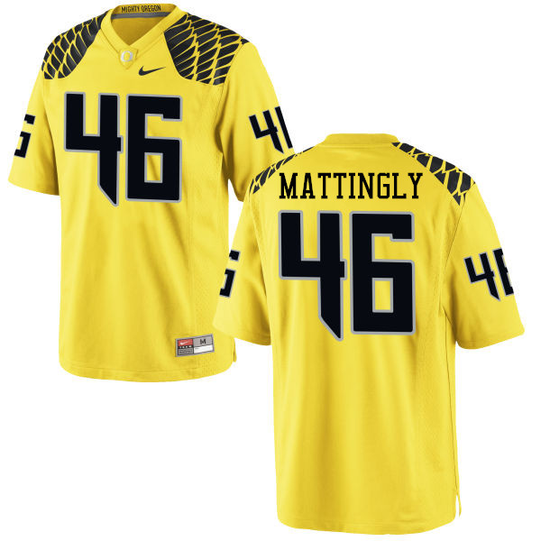 Men #46 Danny Mattingly Oregon Ducks College Football Jerseys-Yellow