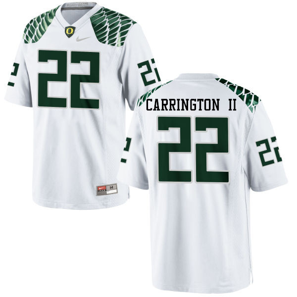 Men #22 Darren Carrington II Oregon Ducks College Football Jerseys-White