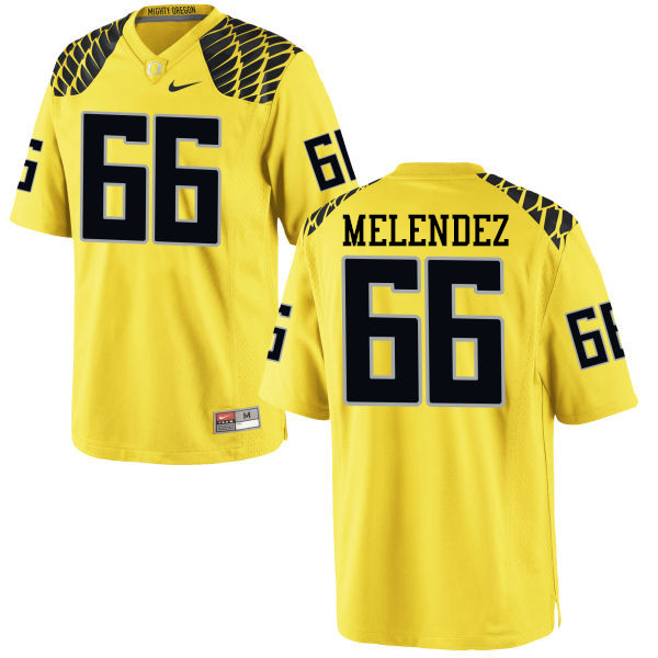 Men #66 Devin Melendez Oregon Ducks College Football Jerseys-Yellow